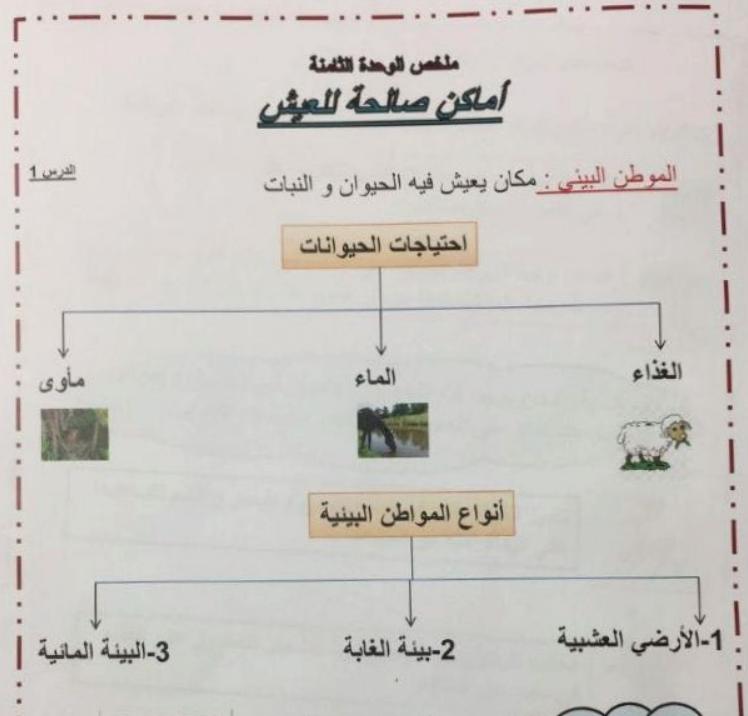 Photo of ملخص اماكن صالحة للعيش علوم للصف الاول الفصل الثاني 2017-2018