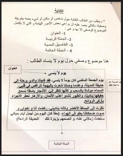 كيفية كتابة نص وصفي وتلخيص قصة لغة عربية للصف ثالث