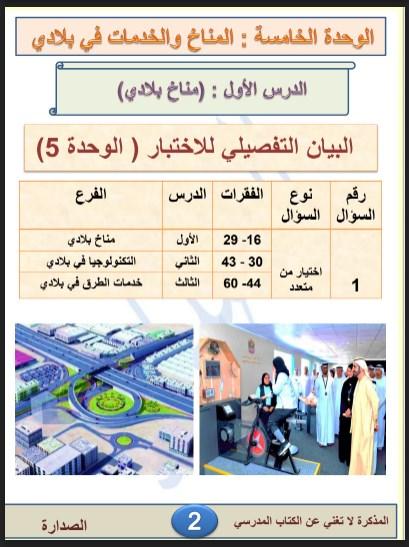 مراجعة عامة لمادة الدراسات الإجتماعية والتربية الوطنية للصف الثالث الفصل الثالث