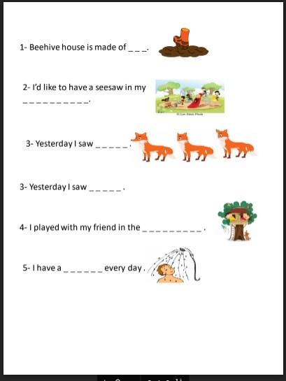 نموذج امتحان كتابة الوحدة 8 لغة انجليزية صف ثالث