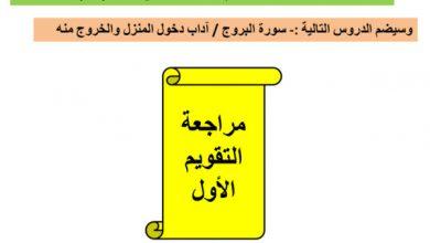 Photo of مراجعة للتقويم الأول تربية اسلامية صف رابع فصل أول