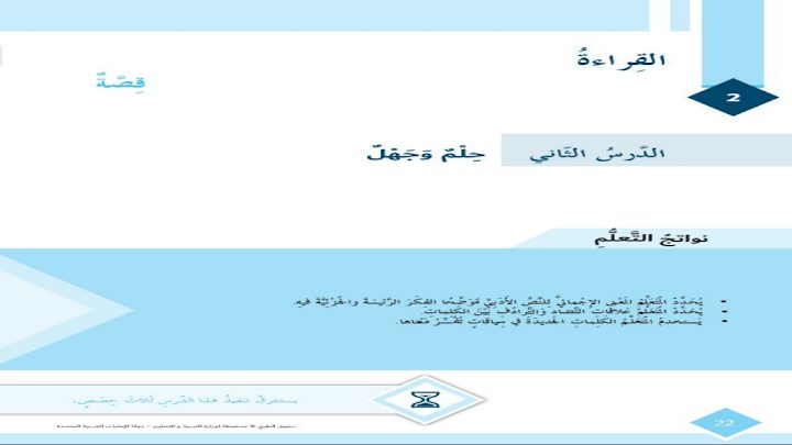 Photo of صف سادس فصل ثاني حلول درس حلم وجهل لغة عربية