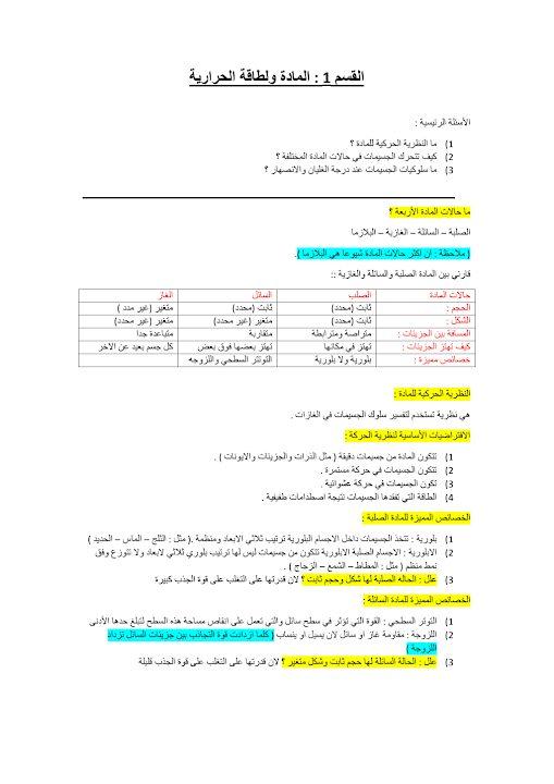 Photo of صف تاسع عام فصل ثاني علوم  تلخيص الوحدة السادسة