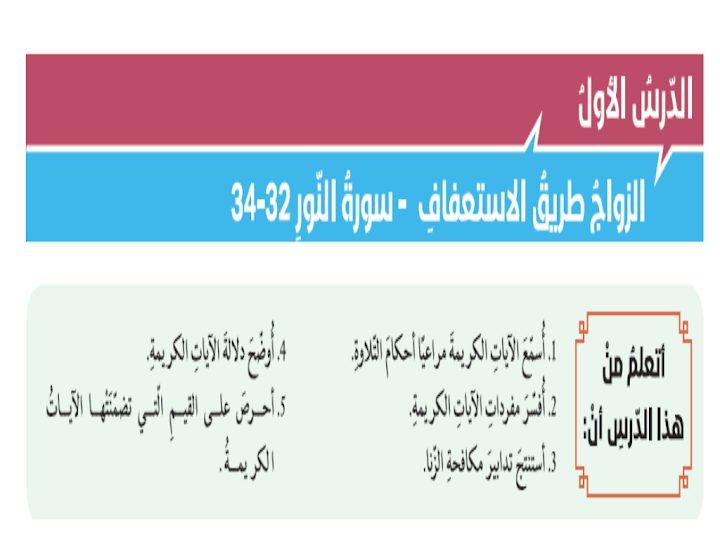 Photo of صف ثاني عشر فصل ثاني  تربية إسلامية حل الزواج طريق الاستعفاف