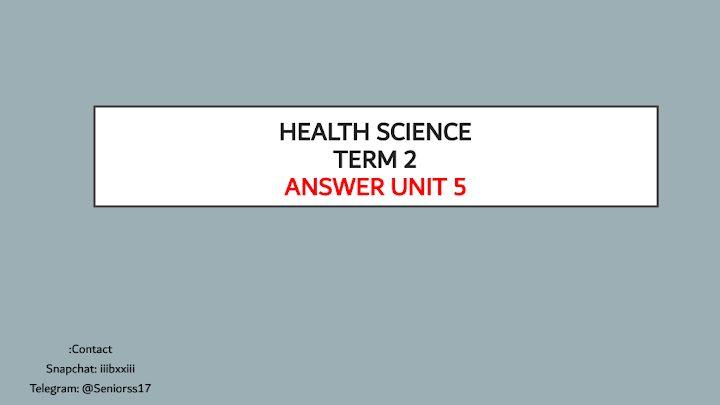 Photo of صف ثاني عشر فصل ثاني علوم صحية ملخص الوحدة الخامسة