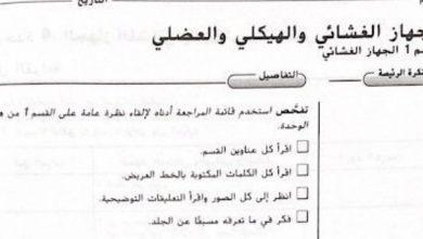 Photo of صف تاسع فصل ثاني حلول كتاب النشاط أحياء الجهاز الغشائي والهيكلي والعضلي