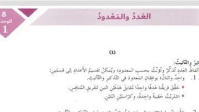 Photo of صف سابع فصل ثاني حلول لغة عربية درس العدد والمعدود