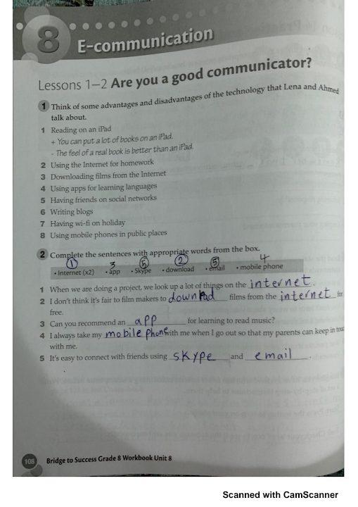 Photo of حل الوحدة الثامنة لغة إنجليزية صف ثامن فصل ثاني