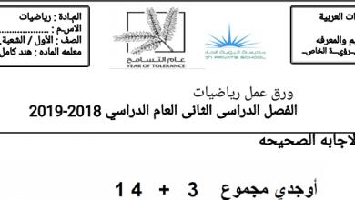 Photo of أوراق عمل جمع الآحاد والعشرات رياضيات صف أول فصل ثاني