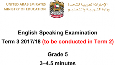 Photo of نموذج أسئلة امتحان  التحدث 2018 صف خامس فصل ثالث