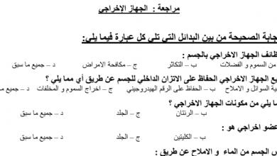 Photo of أوراق عمل مراجعة درس الجهاز الاخراجي مع الحل أحياء صف تاسع فصل ثاني