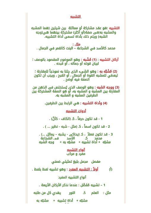 Photo of صف ثامن فصل ثاني شرح انواع التشبيه  لغة عربية