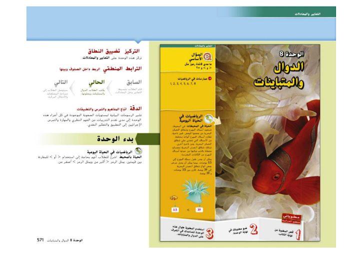 Photo of صف سادس فصل ثاني دليل رياضيات الوحدة الثامنة الدوال والمتباينات