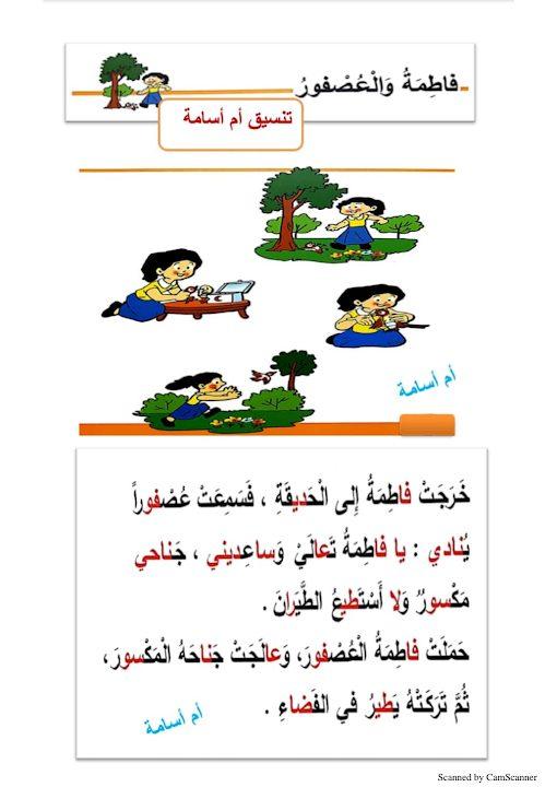 Photo of صف ثاني فصل ثاني اللغة العربية تدريب كتابة قصة مصورة