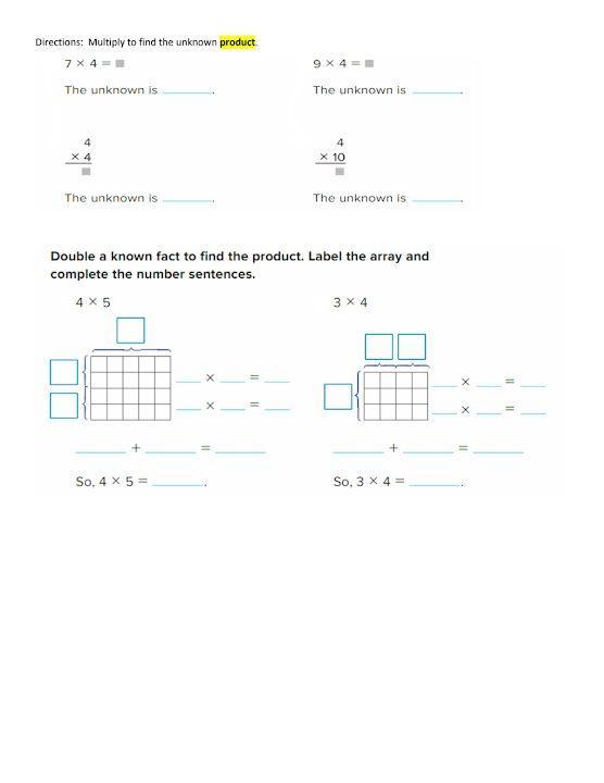 Photo of أوراق عمل 3 رياضيات منهج إنجليزي صف ثالث فصل ثاني