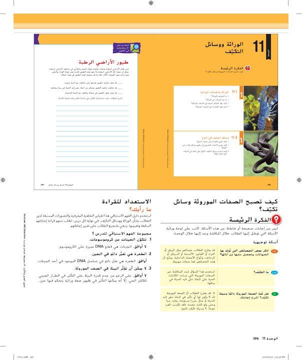 Photo of صف ثامن صف ثاني دليل علوم وحدة الوراثة ووسائل التكيف