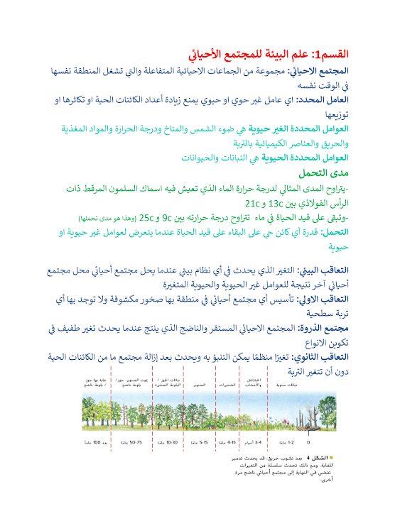 Photo of صف ثاني عشر فصل ثالث تلخيص أحياء علم البيئة للمجتمع الأحيائي