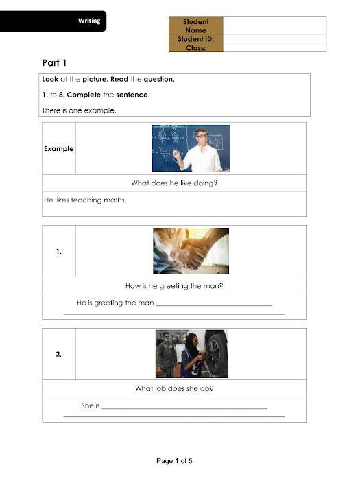 Photo of صف سادس فصل ثاني نموذج امتحان كتابة في مادة اللغة العربية