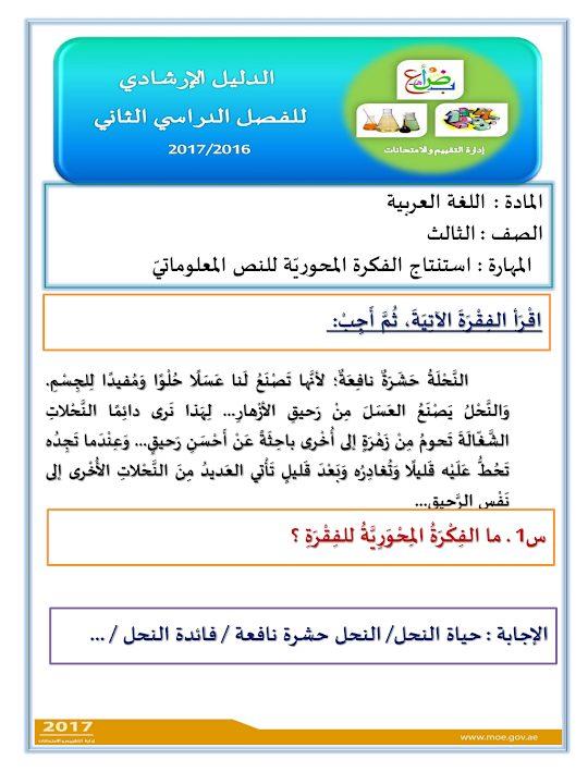 Photo of صف ثالث فصل ثاني نموذج ارشادي لامتحان اللغة العربية