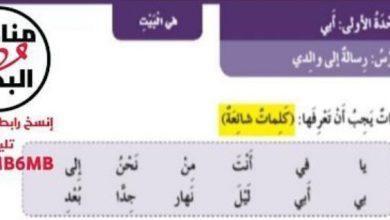 Photo of حل الوحدة الأولى (أبي) لغة عربية صف أول فصل ثالث