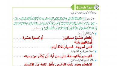 Photo of اجابة درس الإيمان والنذور تربية إسلامية صف ثامن
