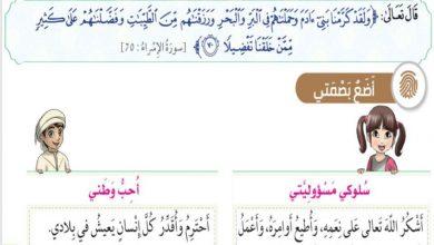 Photo of حل درس سورة التين للصف الثالث تربية اسلامية