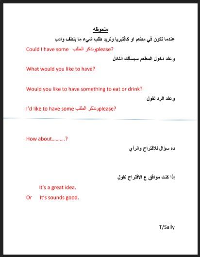 ملخص الدرس الثاني من الوحدة التاسعة لغة إنجليزية صف ثالث فصل ثالث