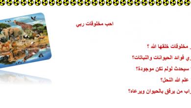 Photo of ورقة عمل أحب مخلوقات ربي تربية إسلامية صف أول فصل ثالث