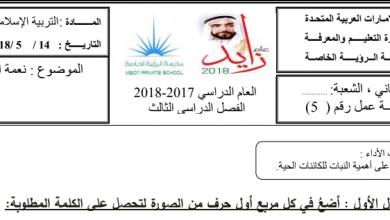 Photo of ورق عمل درس نعمة النبات علوم صف ثاني فصل ثالث