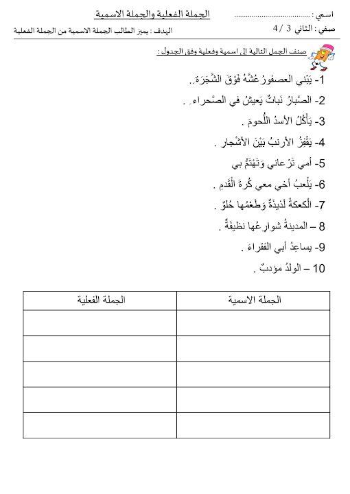 Photo of أوراق عمل شاملة لغة عربية صف ثاني فصل ثالث