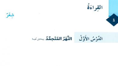 Photo of حل درس النهر المتجمد لغة عربية صف ثامن فصل ثالث