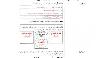 Photo of صف ثامن فصل ثالث علوم حلول دليل الأنشطة درس الزلازل والبراكين