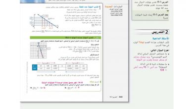 Photo of صف حادي عشر متقدم فصل ثالث دليل رياضيات تقدير النهايات بيانياً