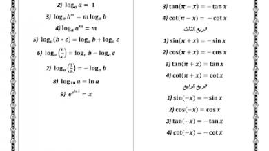Photo of صف ثاني عشر فصل ثالث الرياضيات قوانين النسب المثلثية والمشتقات