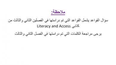 Photo of مراجعة لأهم القواعد لغة إنجليزية صف ثامن وتاسع فصل ثالث