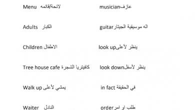 Photo of ملخص الدرس الثاني من الوحدة التاسعة لغة إنجليزية صف ثالث فصل ثالث