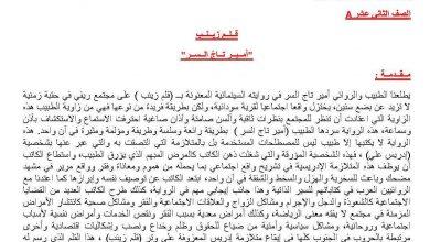 Photo of تلخيص رواية قلم زينب لغة عربية ثاني عشر