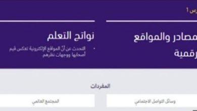 Photo of حل درس المصادر والمواقع الرقمية تربية أخلاقية الصف السابع الفصل الثالث