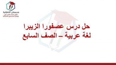 Photo of حل درس عصفور الزيبرا لغة عربية الصف السابع الفصل الثالث