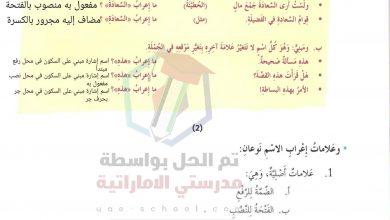 Photo of حل درس علامات اعراب الاسم الاصلية والفرعية لغة عربية الصف السابع