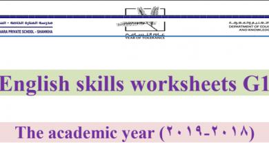 Photo of مراجعة نهائية لمهارات الفصل الثالث لغة إنجليزية صف أول