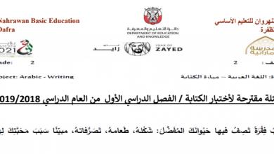 Photo of أسئلة مقترحة في امتحان الكتابة لغة عربية صف ثاني