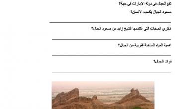 Photo of ورقة عمل (بلادي شامخة) دراسات اجتماعية صف أول فصل ثالث