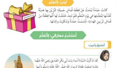 Photo of حل درس أسماء بنت أبي بكر الصديق تربية إسلامية الصف الأول الصل الثالث