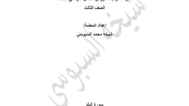 Photo of ملزمة مراجعة شاملة تربية إسلامية صف ثالث فصل ثالث