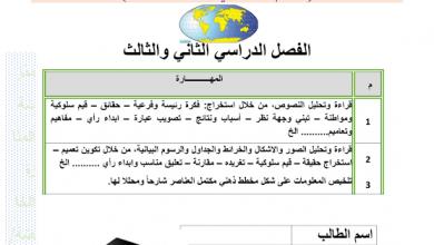 Photo of أوراق عمل مراجعة لمهارات الفصل الثاني والثالث دراسات اجتماعية صف ثاني عشر