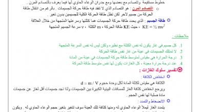 Photo of ملخص وحدة الغازات مع حلول أسئلة الكتاب كيمياء صف حادي عشر فصل ثالث