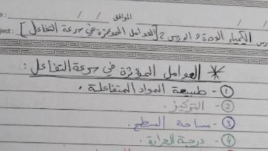 Photo of تلخيص الدرس 2 الوحدة 9 كيمياء صف عاشر متقدم فصل ثالث