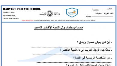 Photo of أوراق عمل 2 قصة مصباح وبندق مع الحل لغة عربية صف ثالث فصل ثاني