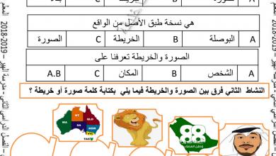 Photo of أوراق عمل الوحدة الثالثة دراسات اجتماعية صف ثالث فصل ثاني